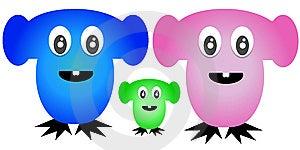 Cartoon Characters Jellybean Family Royalty Free Stock Photography - Image: 8191927