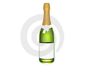 Champagne Or Wine Bottle Royalty Free Stock Photo - Image: 8192025