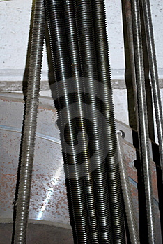 Steel Thread Bar Stock Photography - Image: 8192942