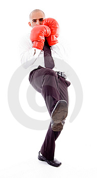 Male Posing In Boxing Gloves Stock Photo - Image: 8195990