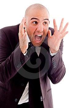Businessman Shouting Loudly Stock Photos - Image: 8196133