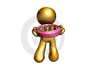 Icon Figure With Chocolate Stock Image - Image: 8196961
