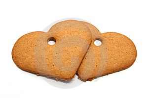 Heart-shaped Gingerbread Cookies Stock Image - Image: 8196991