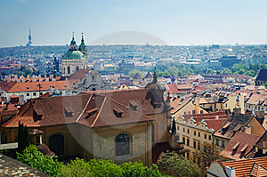 Red Roofs Of Prague Stock Photos - Image: 8198303