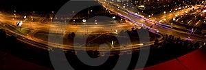 Night City Interchange Royalty Free Stock Image - Image: 8199236