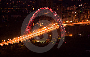 Night City Interchange Royalty Free Stock Image - Image: 8199346