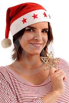Pretty Santa Royalty Free Stock Image - Image: 820926