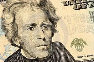 Dwadzieścia Dolarów Rachunku Zbliżenia Fotografia Stock - Obraz: 823112