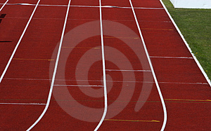 Straight running track Royalty Free Stock Photos