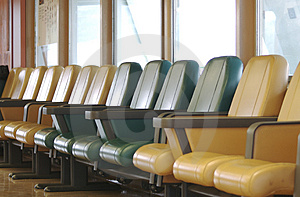 A Row Of Vacant Airport Terminal Seats Royalty Free Stock Photos - Image: 826698