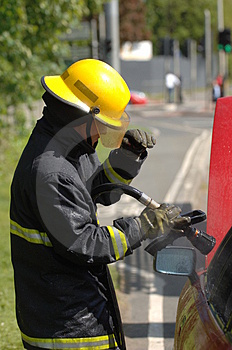 Firemen At Work Royalty Free Stock Photography - Image: 828117