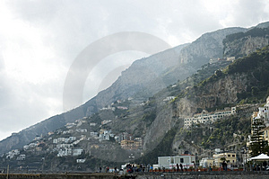 Amalfi City View, Italy Stock Image