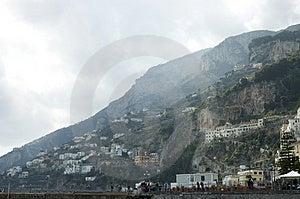 Amalfi City View, Italy Stock Image