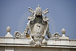 Emblem Of Vatican City Stock Photography - Image: 8200222