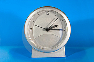 Simple Gray Desk Clock Stock Photography - Image: 8200382