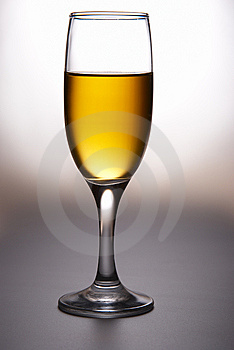Wine glass with wine Royalty Free Stock Photography