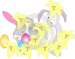 Bunnies Hiding Royalty Free Stock Images - Image: 8201549