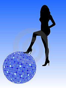 Disco Girl Stock Image - Image: 8204011