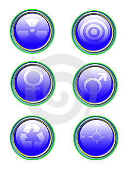 Blue Icon Set Royalty Free Stock Images - Image: 8204559