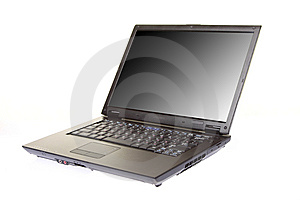 Modern Laptop Isolated On A White Royalty Free Stock Photos - Image: 8205018