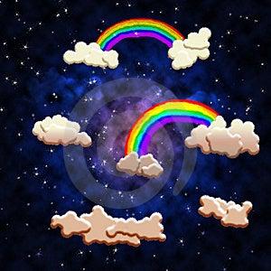 Starry Night Sky Royalty Free Stock Photo - Image: 8205275