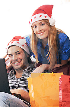 Christmas On-line Shopping Royalty Free Stock Image - Image: 8206016