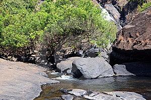 Bergrivier En Waterval Stock Fotografie - Afbeelding: 8206092