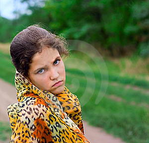 Sad Teen Girl Outdoor Stock Photo - Image: 8206470