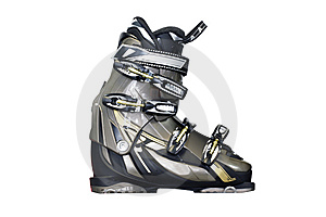 A Downhill Boot Stock Image - Image: 8207911