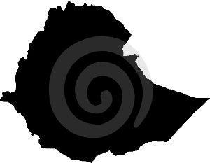 Vector Map Of Ethiopia Stock Photo - Image: 8208360