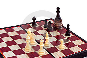 Chess And The King On Coins Stock Image - Image: 8208441