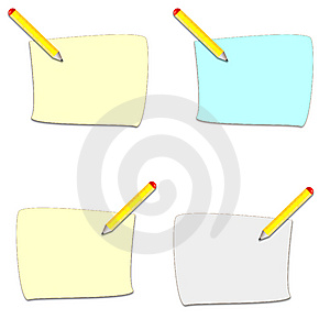 Pencil And Sheet Icons Stock Images - Image: 8208474