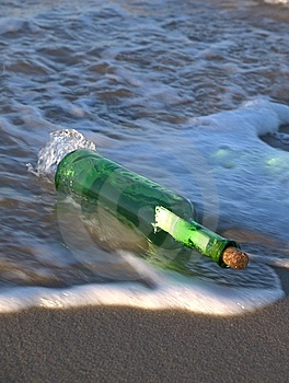 Message In A Bottle Stock Photo - Image: 8208700