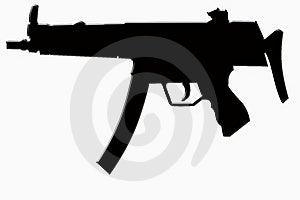 Gun Machine Silhouettte Stock Image - Image: 8209531