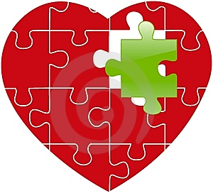 Red Puzzle Stock Images - Image: 8210674