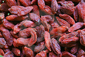 Closeup Of Wolfberries Stock Photography - Image: 8210742