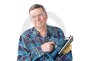 Portrait Of Mature Handyman Royalty Free Stock Photo - Image: 8210895