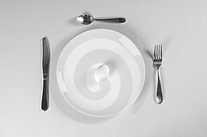 White Plate And Diet Stock Image - Image: 8211211