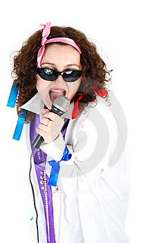 Singer Royalty Free Stock Photo - Image: 8215415