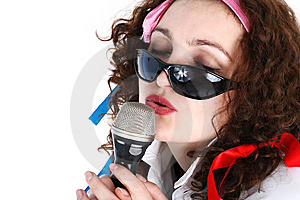 Singer Stock Photo - Image: 8215440
