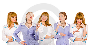 Group Of Friendly People Isolated Over White Royalty Free Stock Image - Image: 8216466