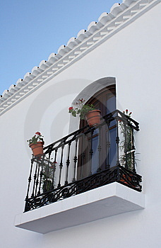 Balcony ( Frigiliana ) Stock Photos - Image: 8218353