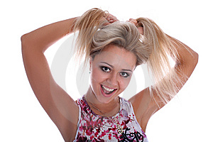 Funny Girl Royalty Free Stock Photo - Image: 8218945