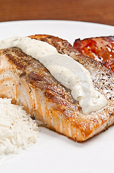 Cooked Salmon Stock Image - Image: 8220241