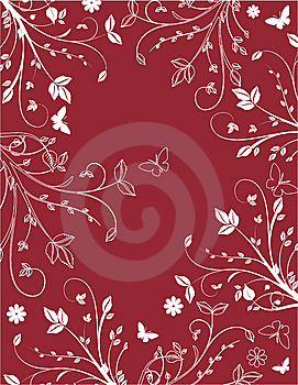 Claret Floral Background Royalty Free Stock Photos - Image: 8220718