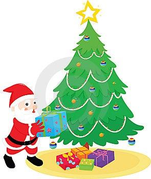 Santa With Presents Royalty Free Stock Photo - Image: 8221045