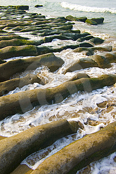 Coast Erosion Of The Waves Royalty Free Stock Photos - Image: 8222008