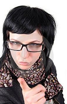 Crazy Girl In Glasses Stock Photo - Image: 8222410