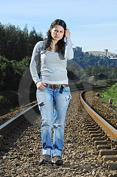 Walking On A Railway Stock Images - Image: 8222644