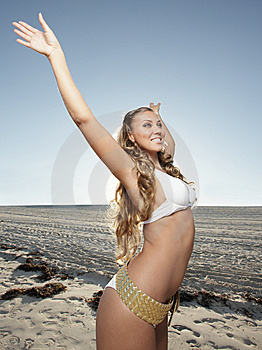 Carefree Young Woman Stock Photo - Image: 8224270